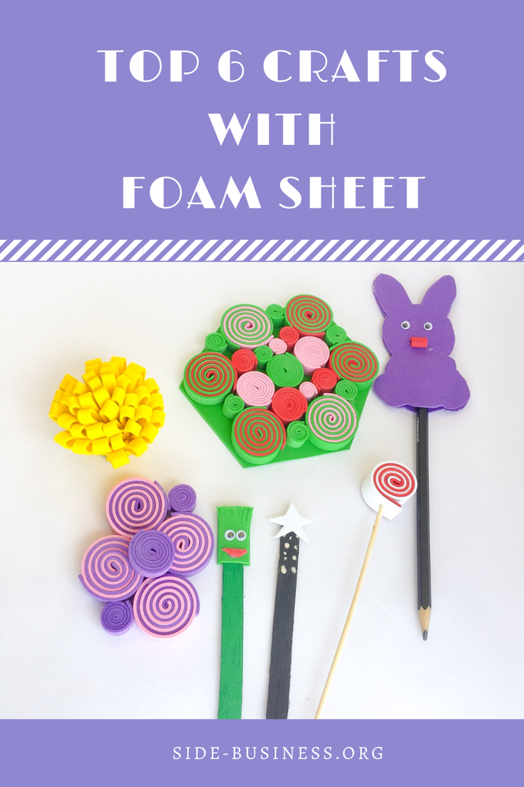 Super Easy Foam Sheet crafts for kid. Have fun making them under 10 minutes each!